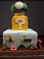 Three tier Super Mario cake.