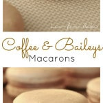 Coffee & Baileys Macarons. The perfect drink combination gets transformed into a macaron. | livforcake.com