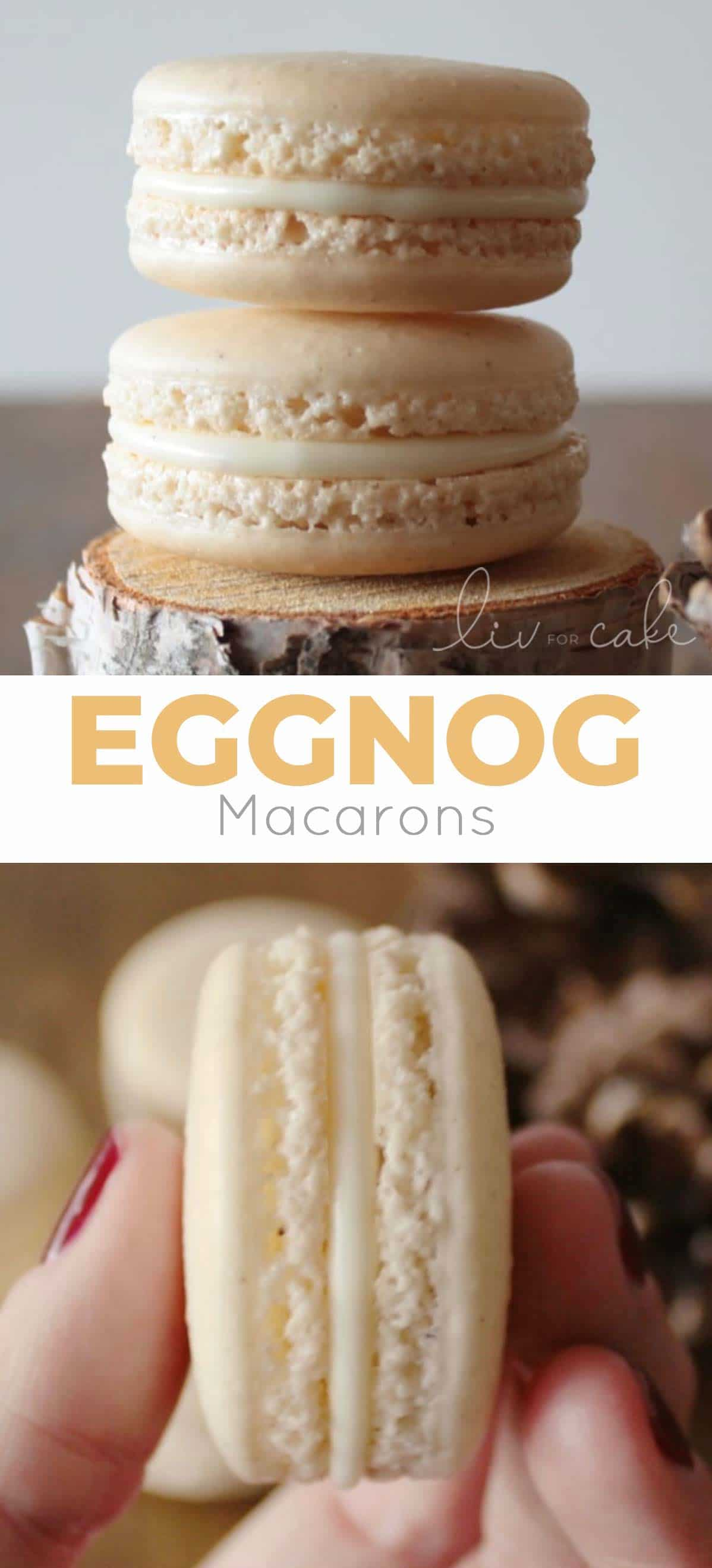 Eggnog Macarons collage