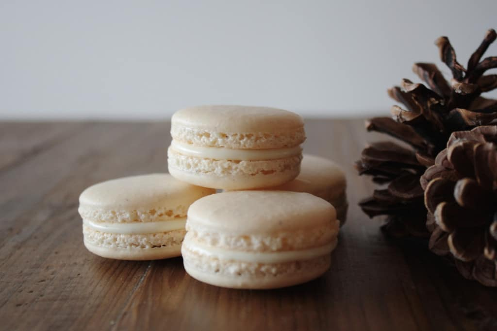 A group of three macarons