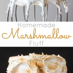 Make your own Marshmallow Fluff at home with a few simple ingredients! Perfect as a filling but works great as a simple frosting too!   livforcake.com