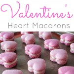 Cinnamon spiced heart shaped macarons perfect for Valentine's Day! | livforcake.com