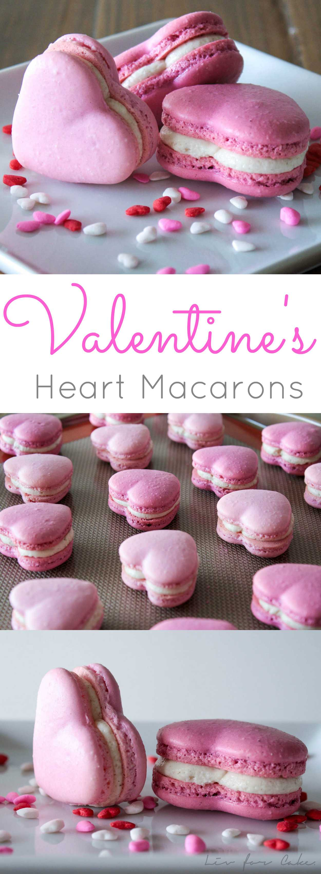 These cinnamon spiced heart macarons are the perfect way to celebrate Valentine's Day! | livforcake.com