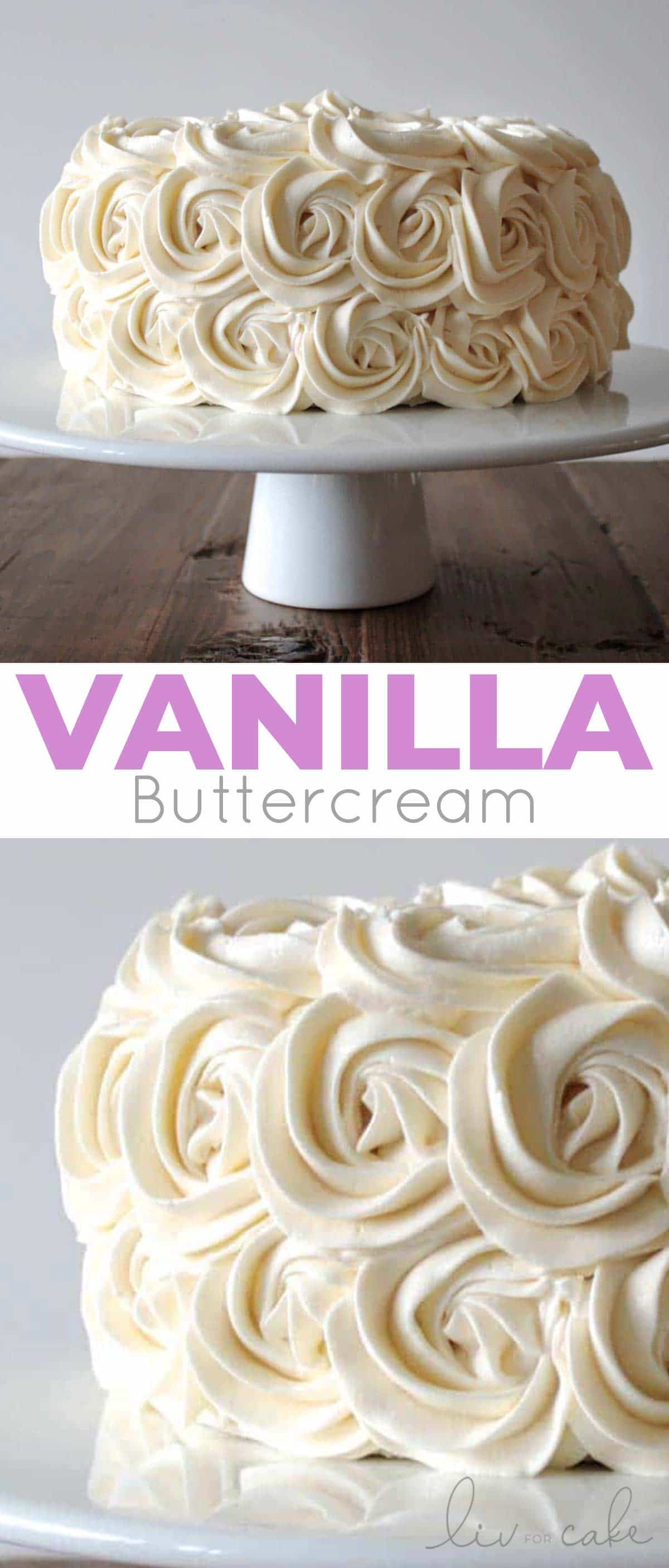 Vanilla buttercream photo collage