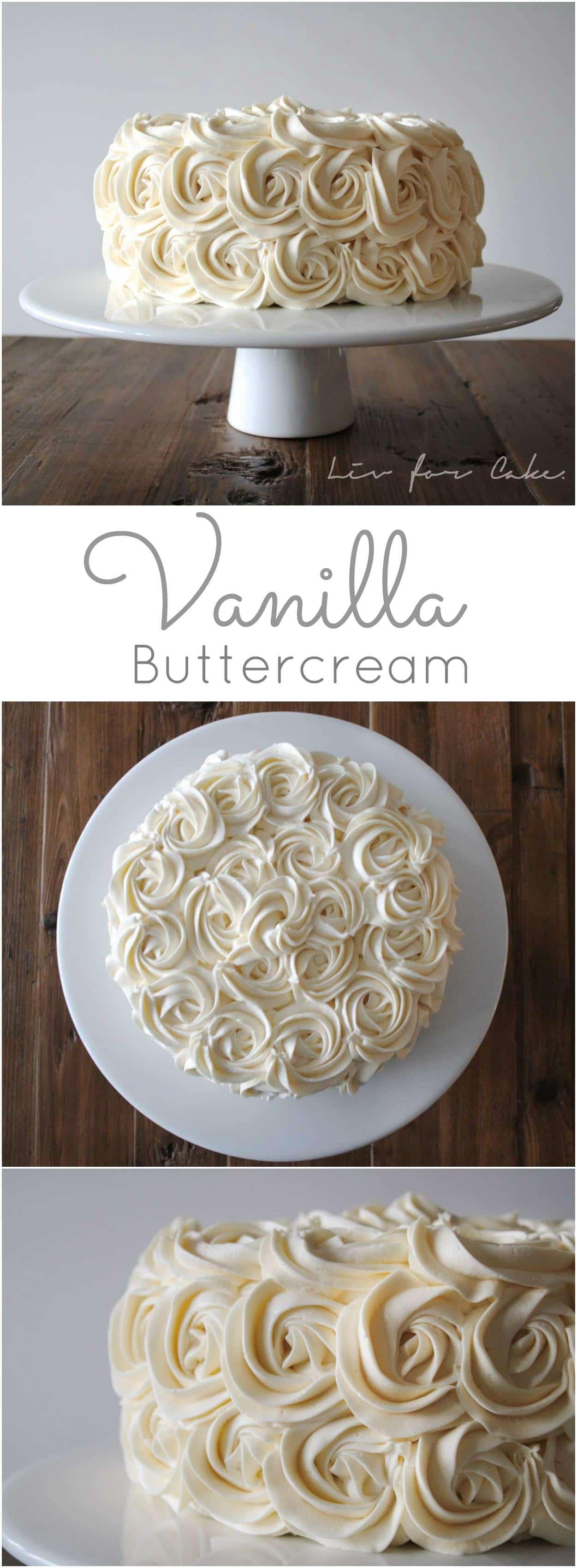 Simple Vanilla Buttercream collage