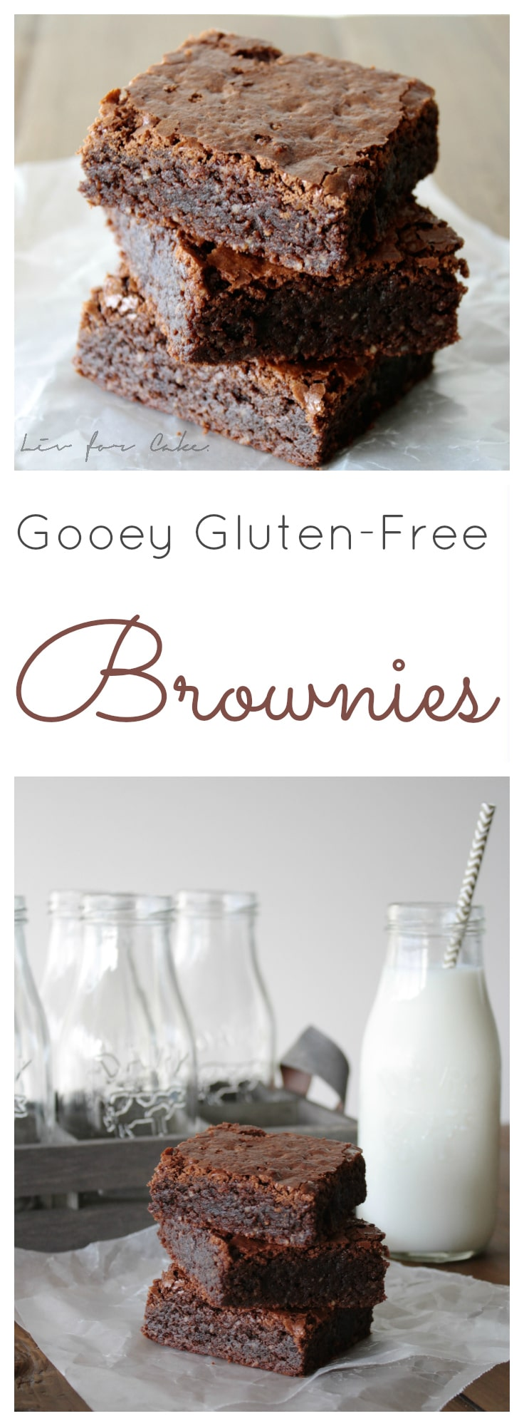 These gooey gluten-free brownies are even better than the real thing! | livforcake.com