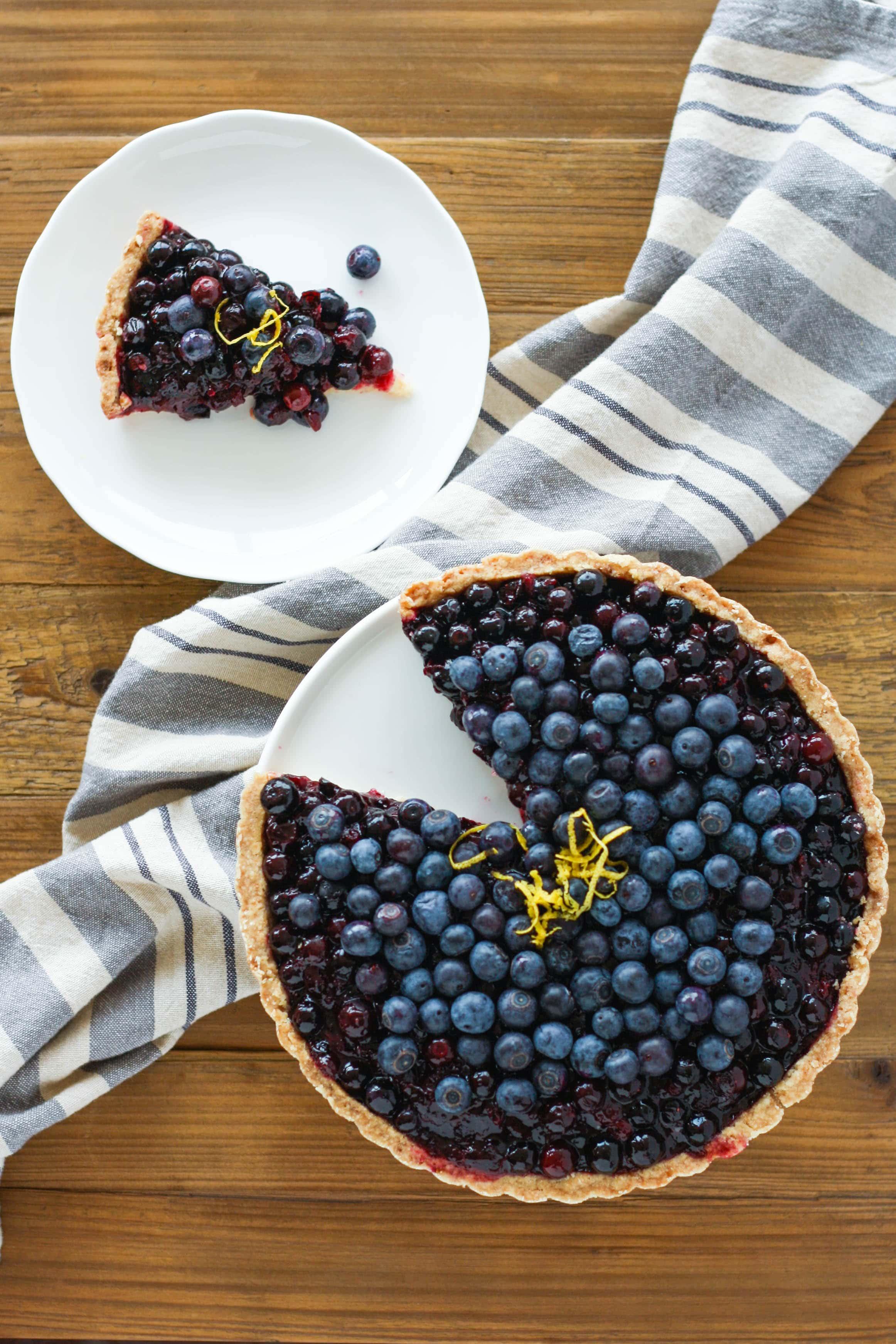 Fresh Blueberry Tart | Blueberry tart, Fruity desserts