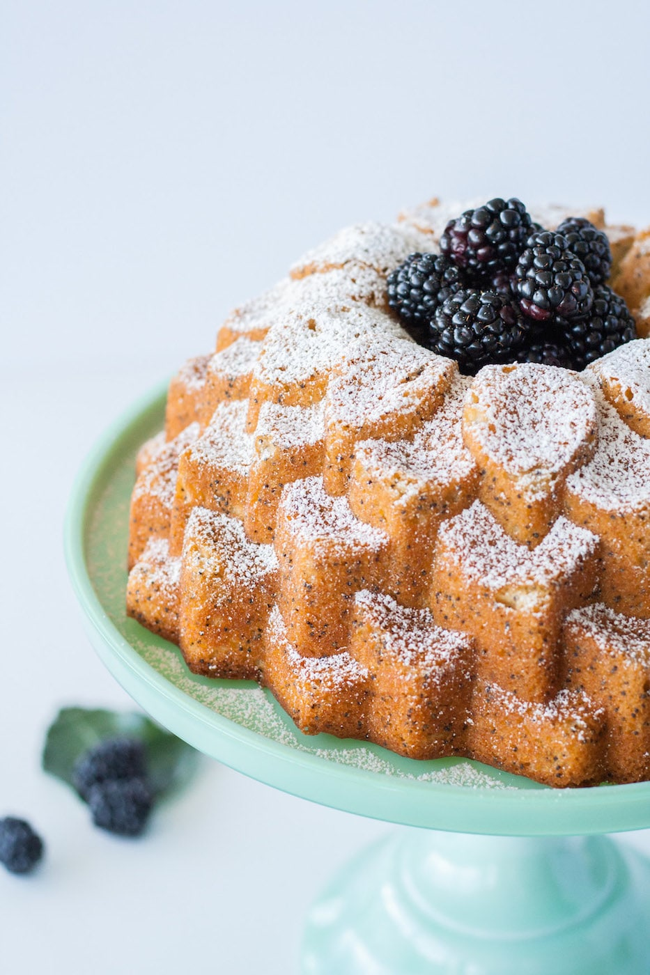 The classic combination of lemon poppy seed in this delicious bundt. | livforcake.com