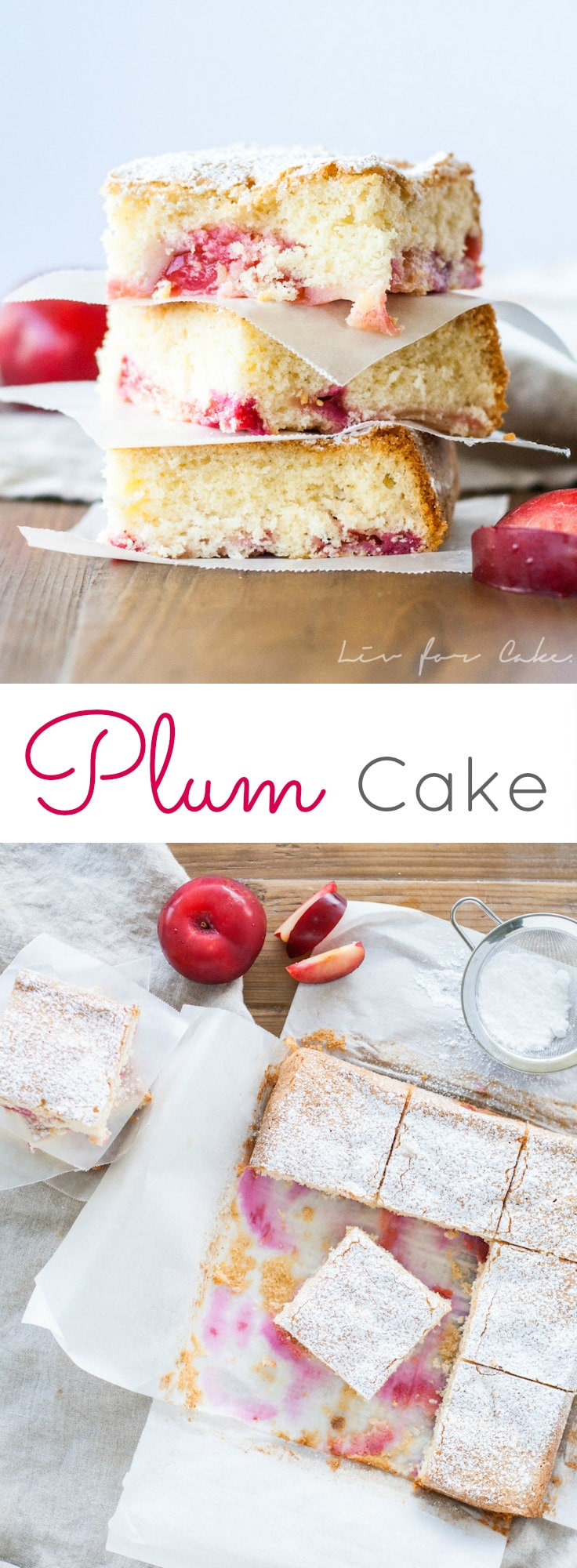 This easy to make plum cake is the perfect dessert for summer. | livforcake.com