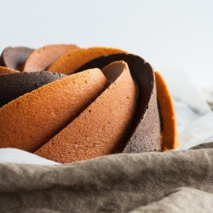 Close up of the two toned Bundt.