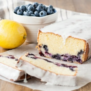 Delicious lemon blueberry loaf with a hint of almond. | livforcake.com