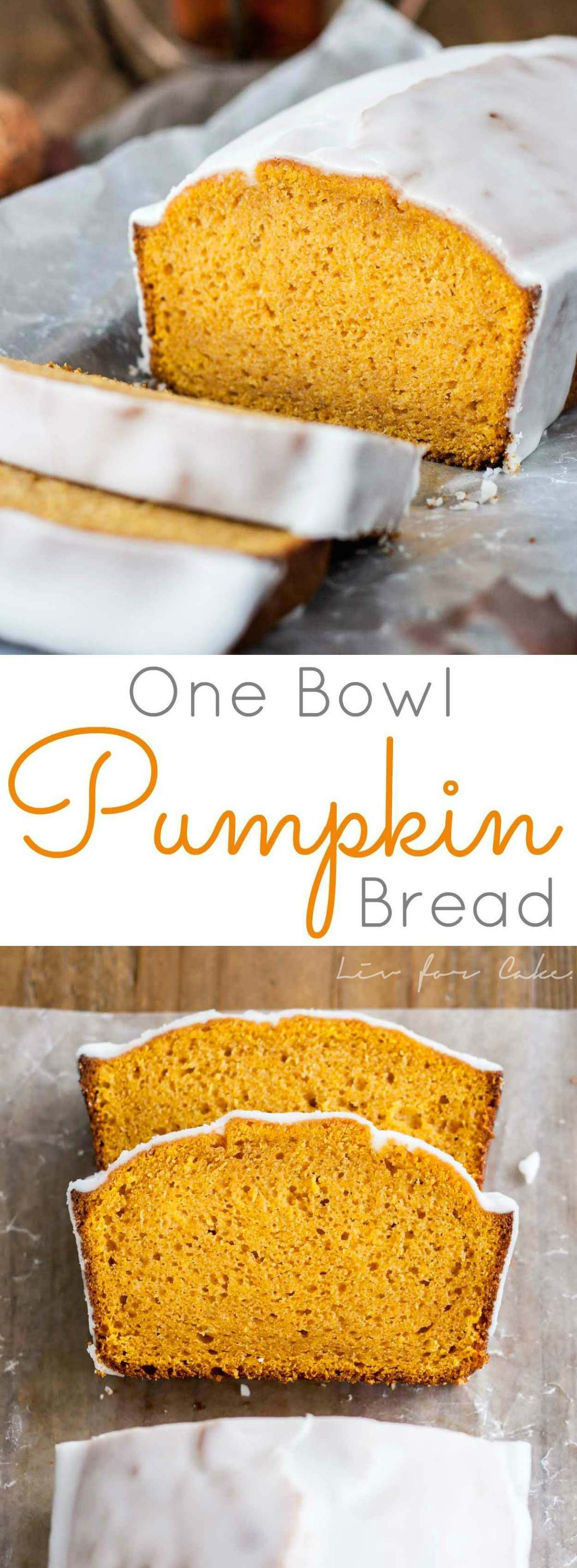 The BEST Pumpkin Bread you will ever have. Easy, one-bowl, delicious. | livforcake.com