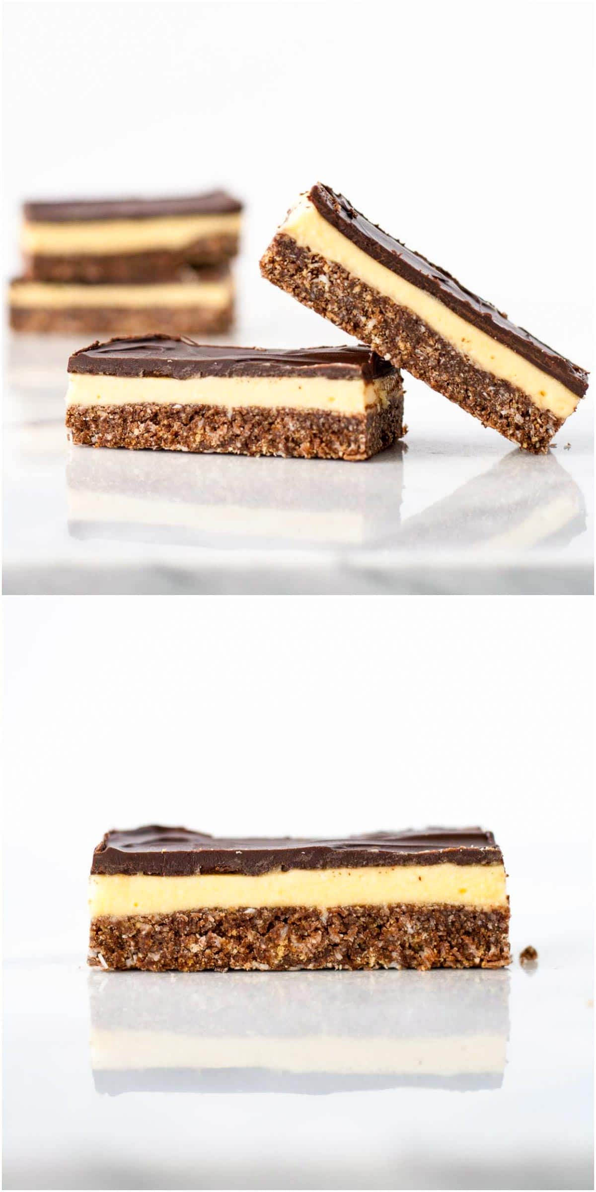 Close up of the bars showing all three layers.