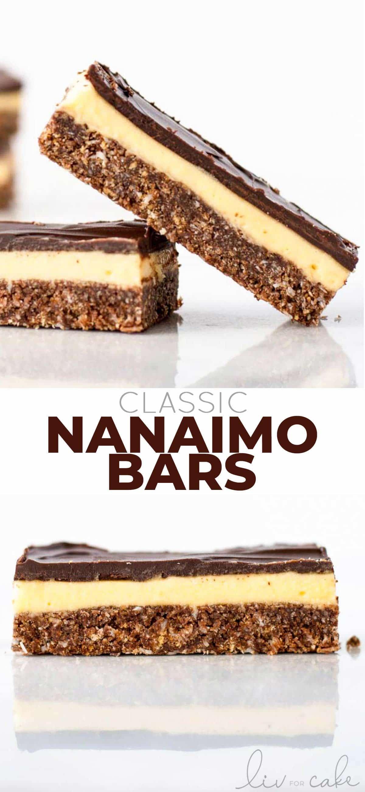 Nanaimo bar photo collage
