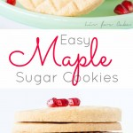 Maple sugar cookies collage.