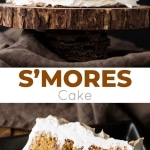 S'mores cake photo collage