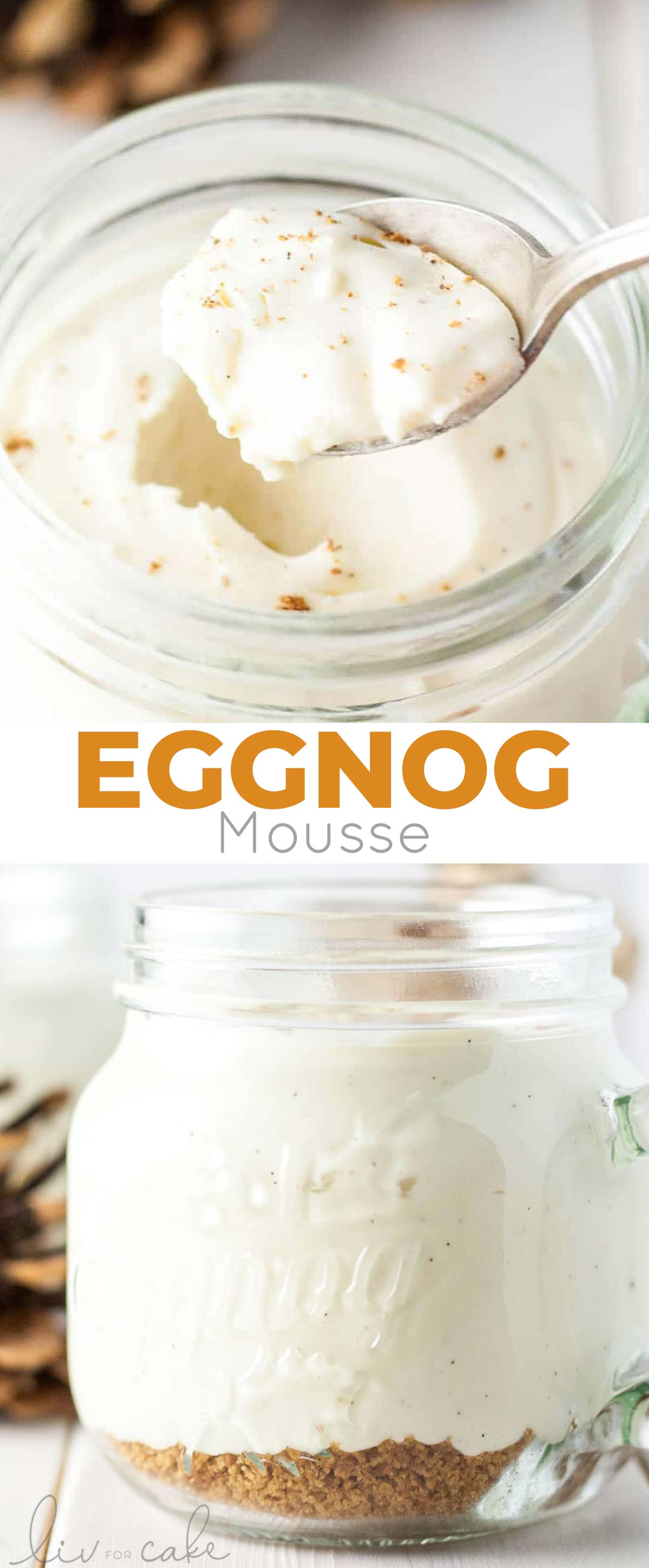eggnog mousse collage