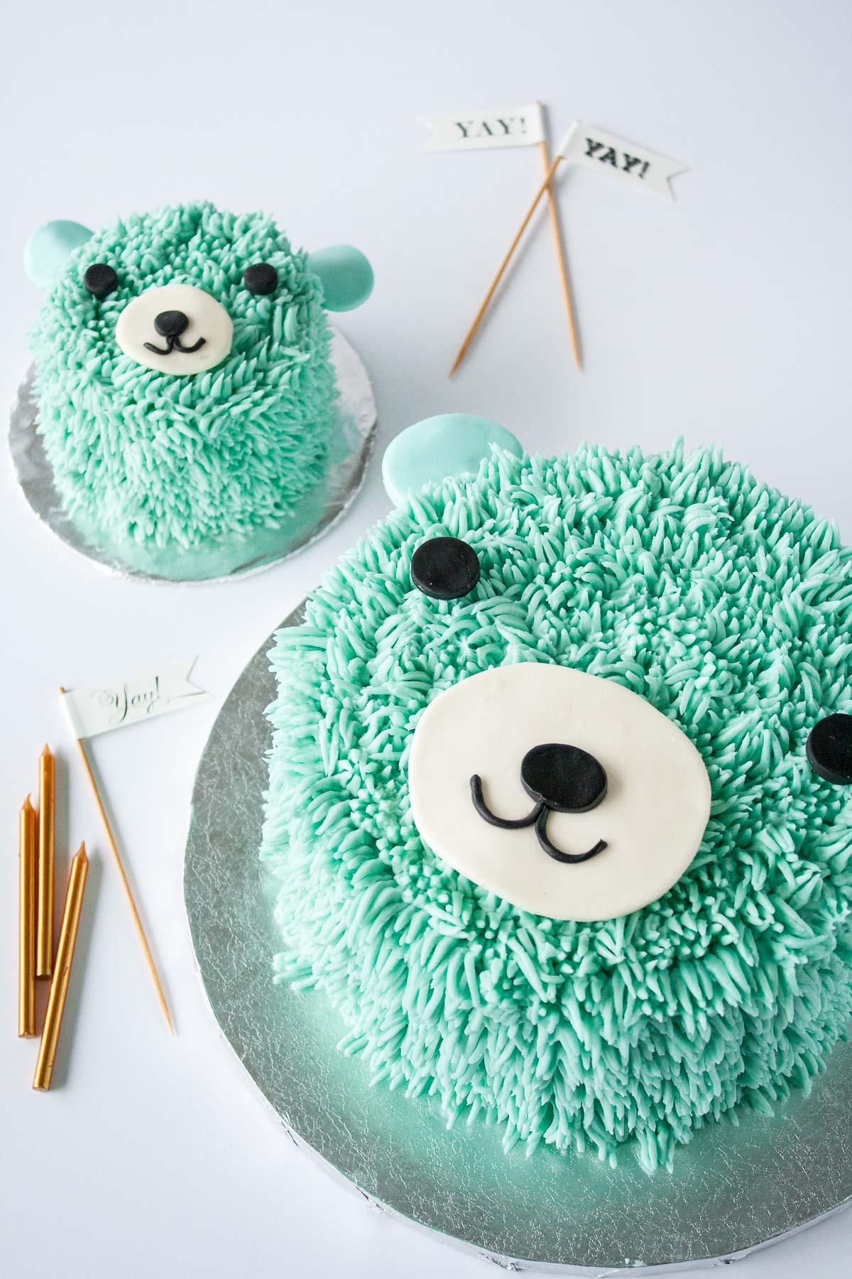 Blue Bear Birthday Cake Liv for Cake