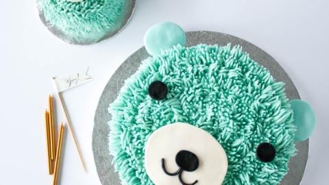Astounding Blue Bear Birthday Cake Liv For Cake Funny Birthday Cards Online Drosicarndamsfinfo