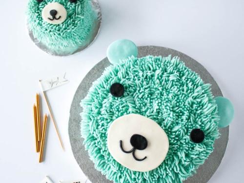 Remarkable Blue Bear Birthday Cake Liv For Cake Personalised Birthday Cards Veneteletsinfo