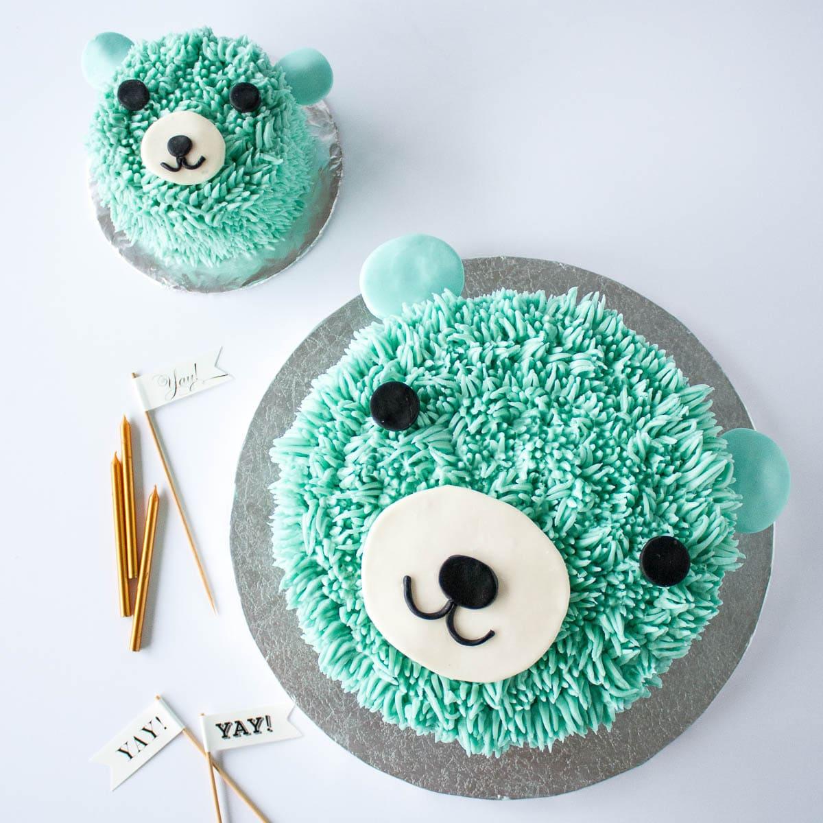 Swell Blue Bear Birthday Cake Liv For Cake Funny Birthday Cards Online Aeocydamsfinfo
