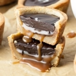 Gooey Caramel Cookie Cups