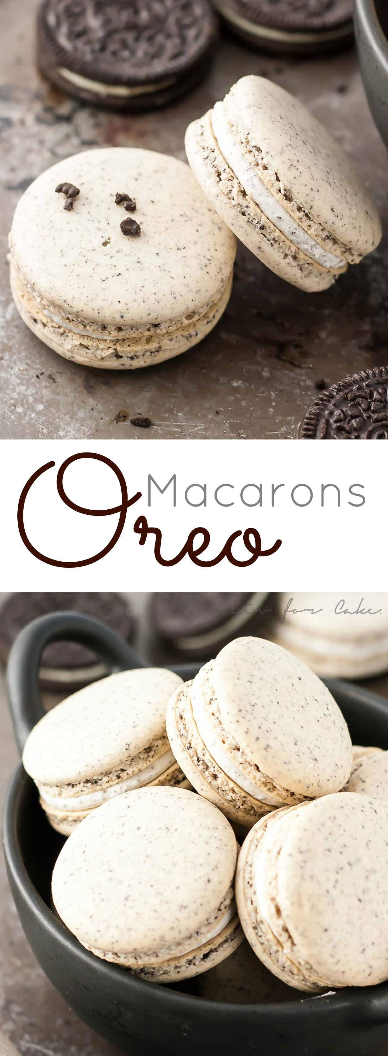 Oreo Macarons! Turn your favourite store-bought classics into something more decadent with these delicate Oreo macarons.