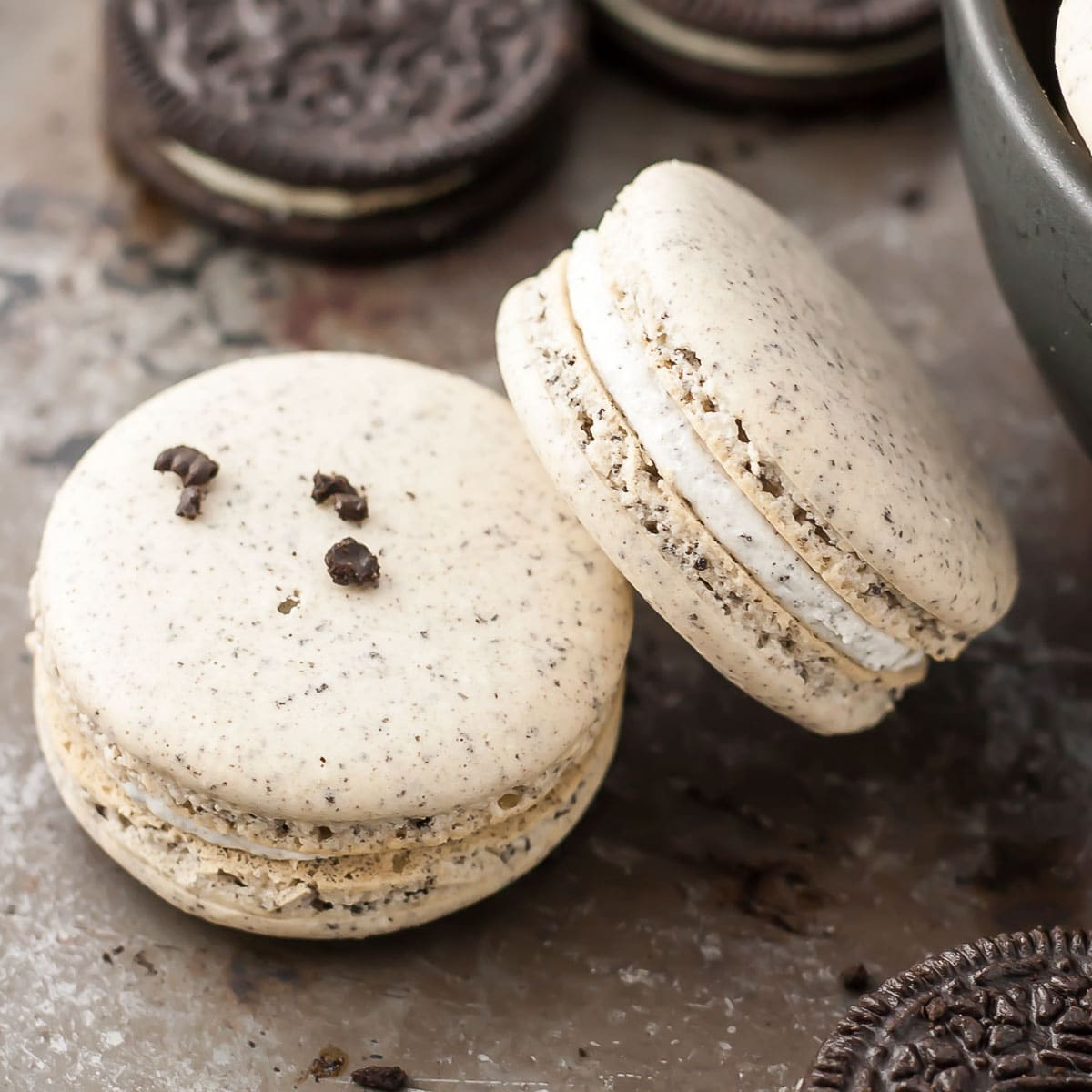 Oreo Macarons French Macarons Liv For Cake