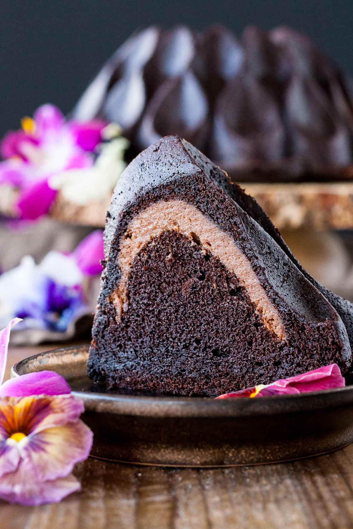 Chocolate Cheesecake Stuffed Bundt Cake Liv For Double Layer Cheese Original The In This Delicious