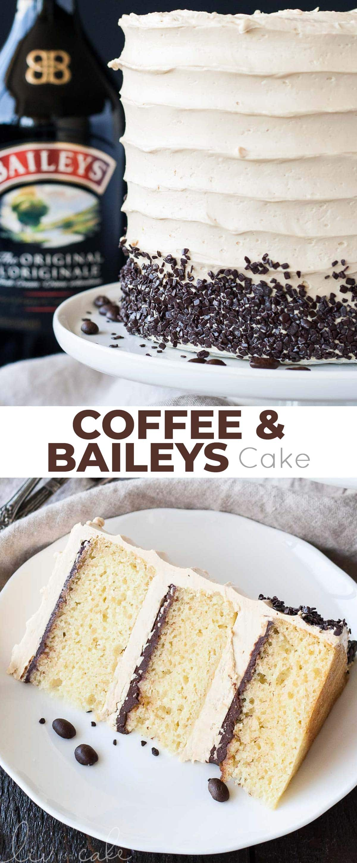 Coffee Baileys Cake photo collage