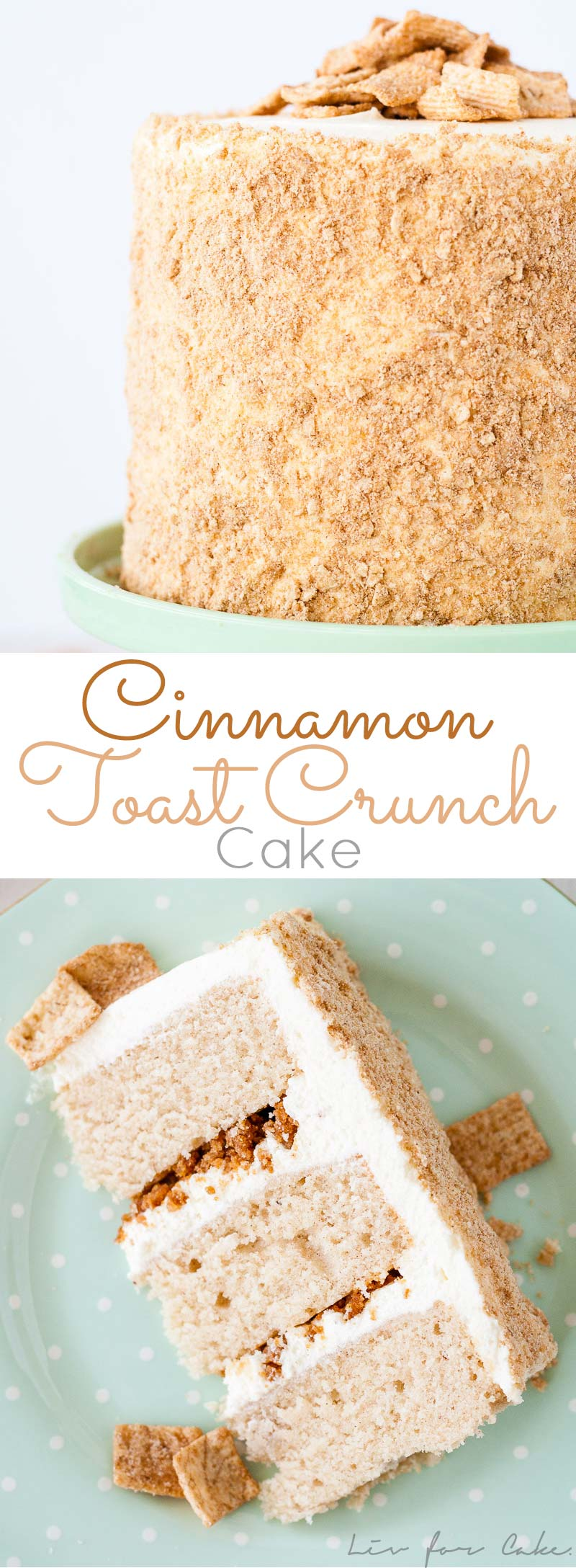 Your Favorite Cereal In Cake Form Cinnamon Cake Cream Cheese Frosting And Cinnamon