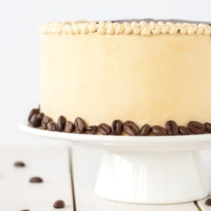 Close up of the side of a cake