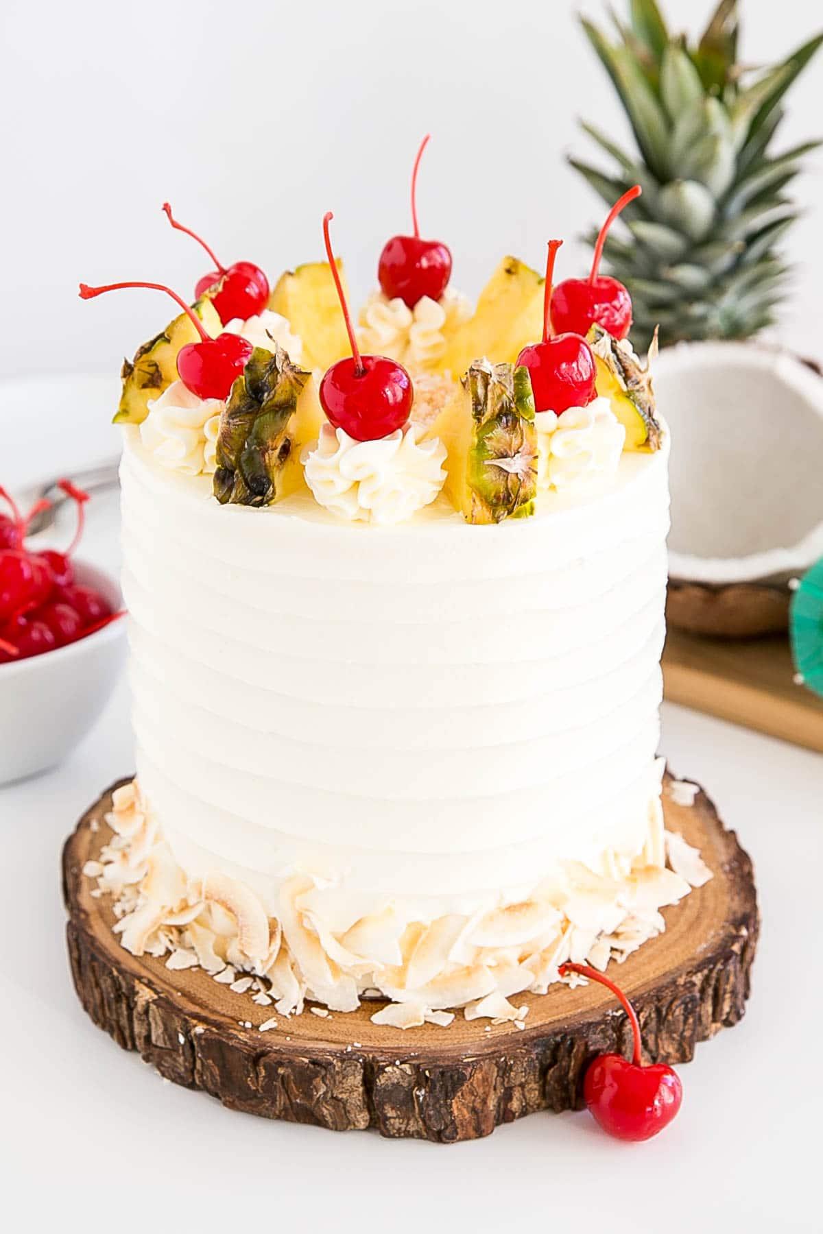 Angled shot of the cake
