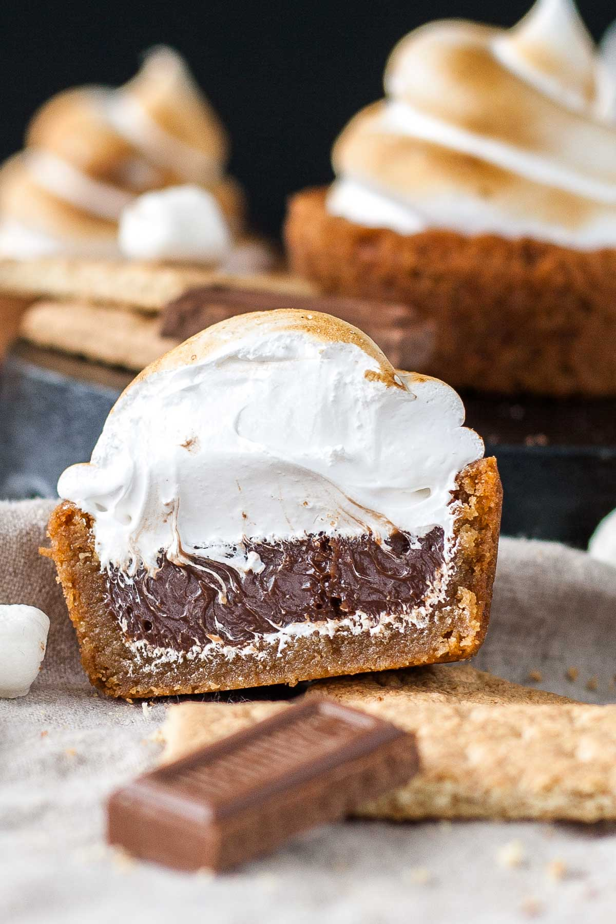 No Campfire Needed For These Smores Cookie Cups Graham Cracker Filled