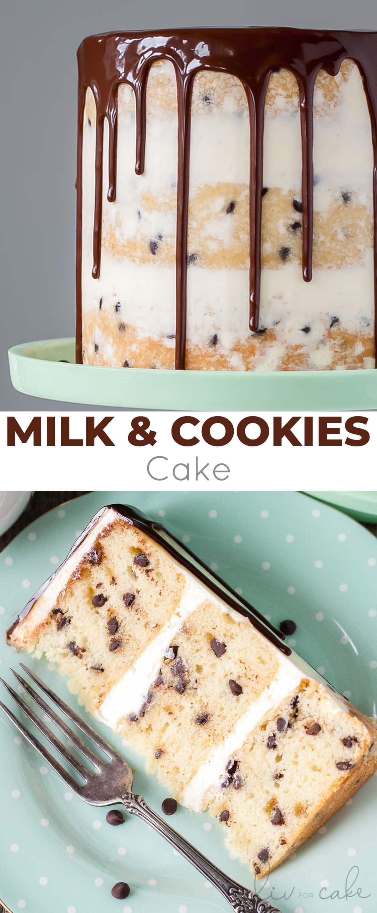 Milk & Cookies Cake collage