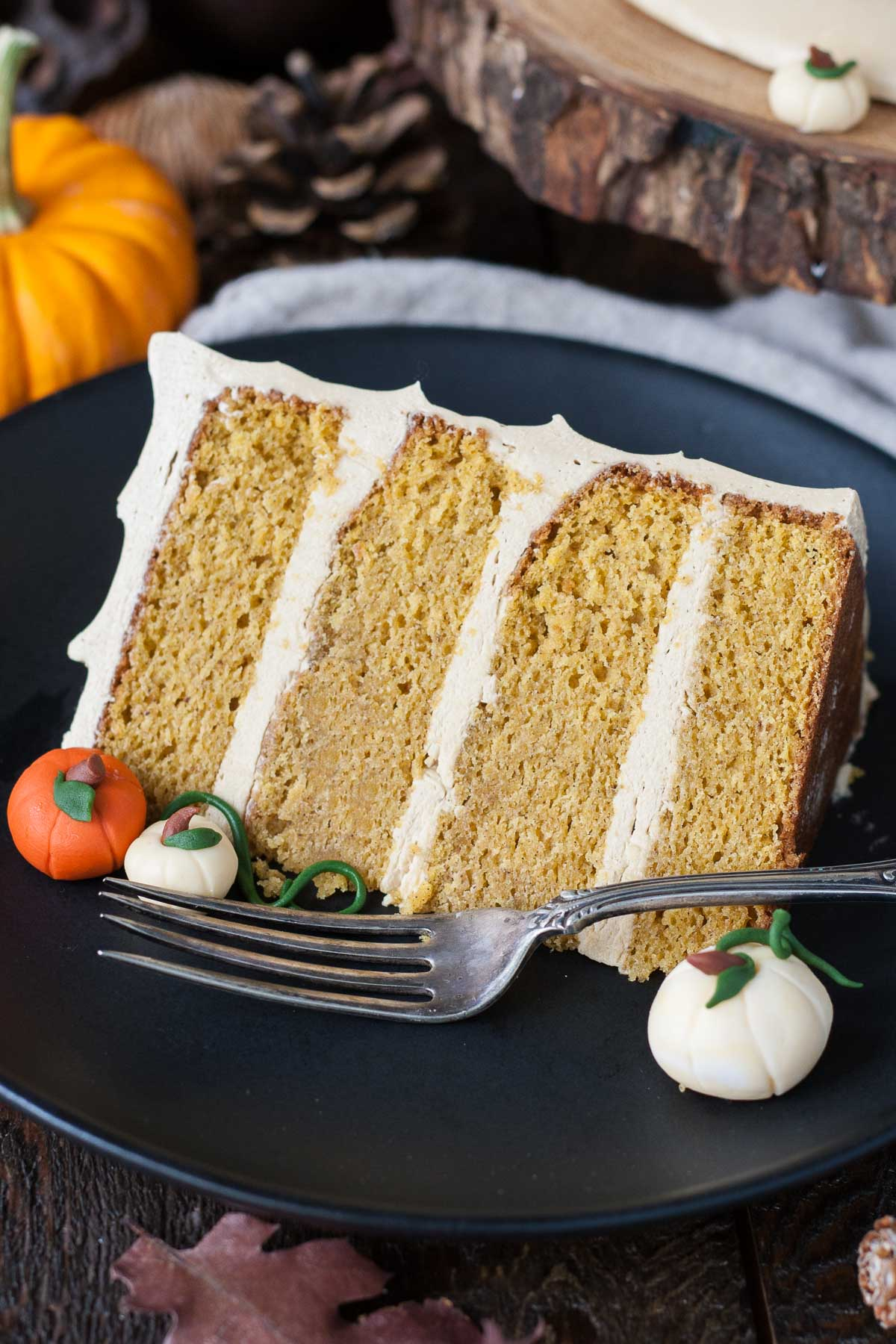 Slice of Pumpkin Spice Latte Cake