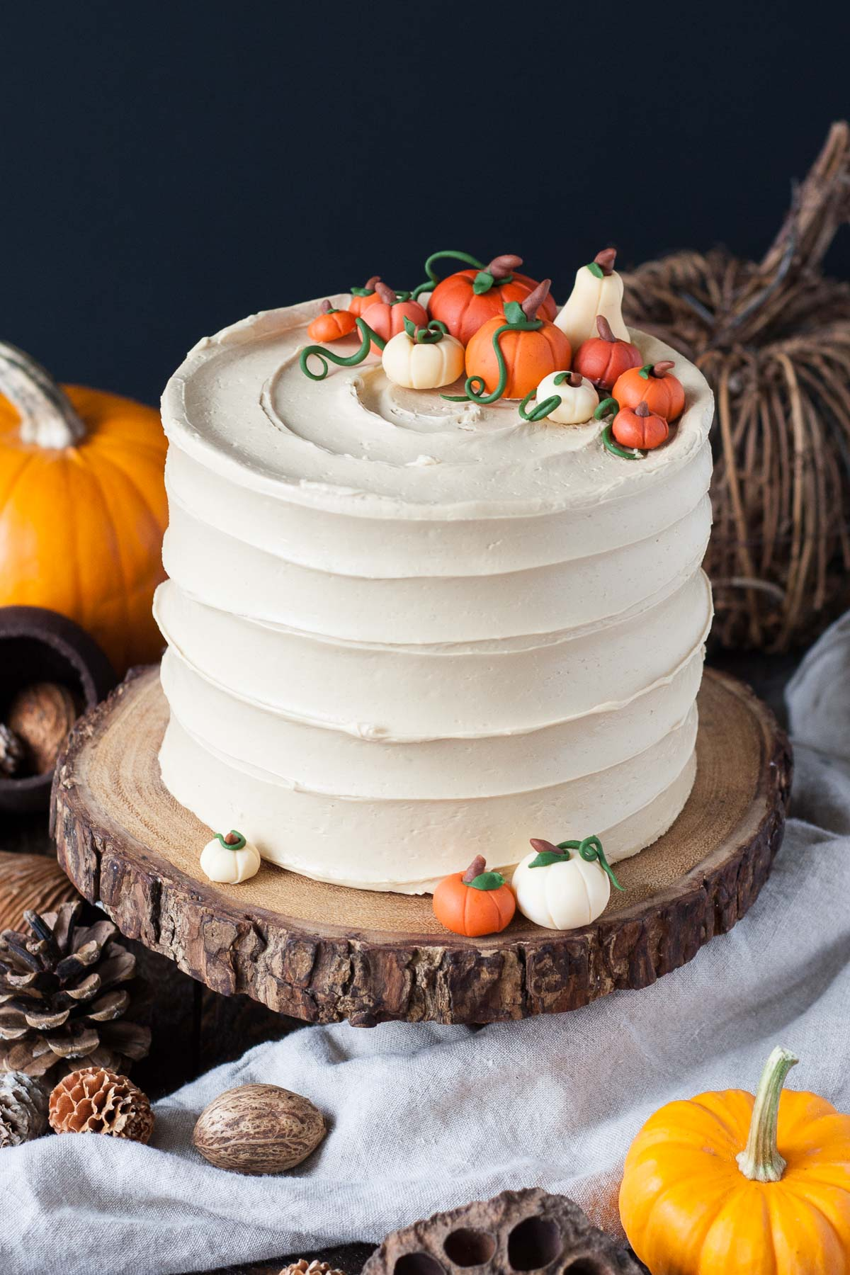 Pumpkin Spice Latte Cake with an espresso buttercream