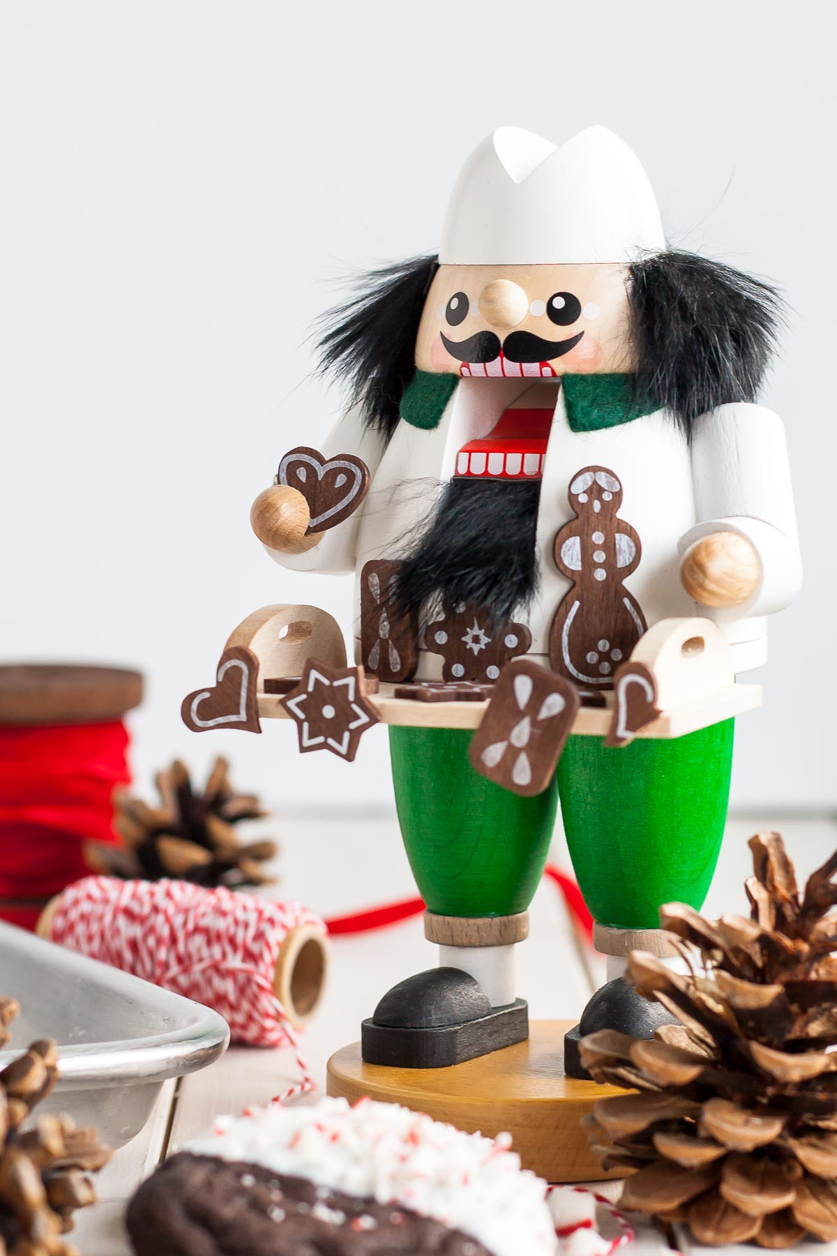German nutcracker - baker with holiday cookies