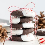 A stack of holiday cookies