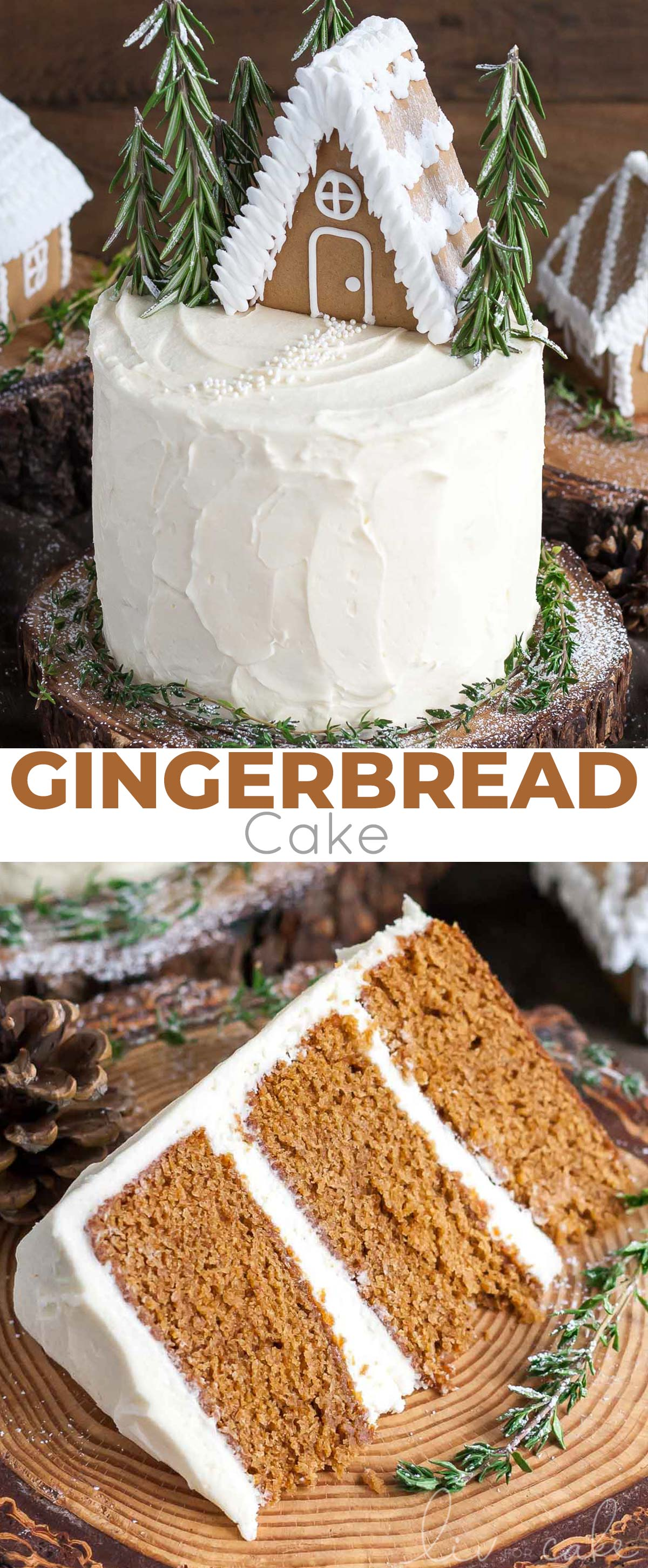 This Gingerbread Cake is perfect for the holidays!