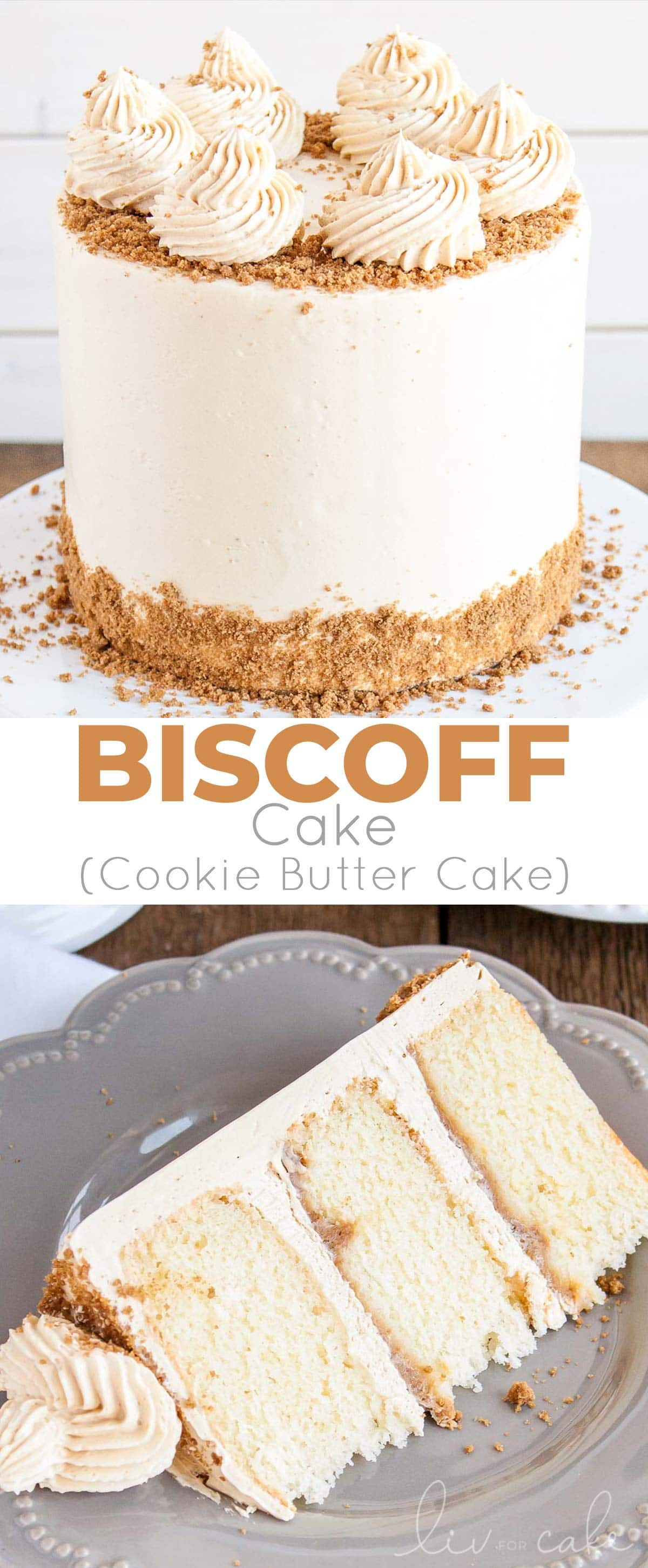 Biscoff cake photo collage