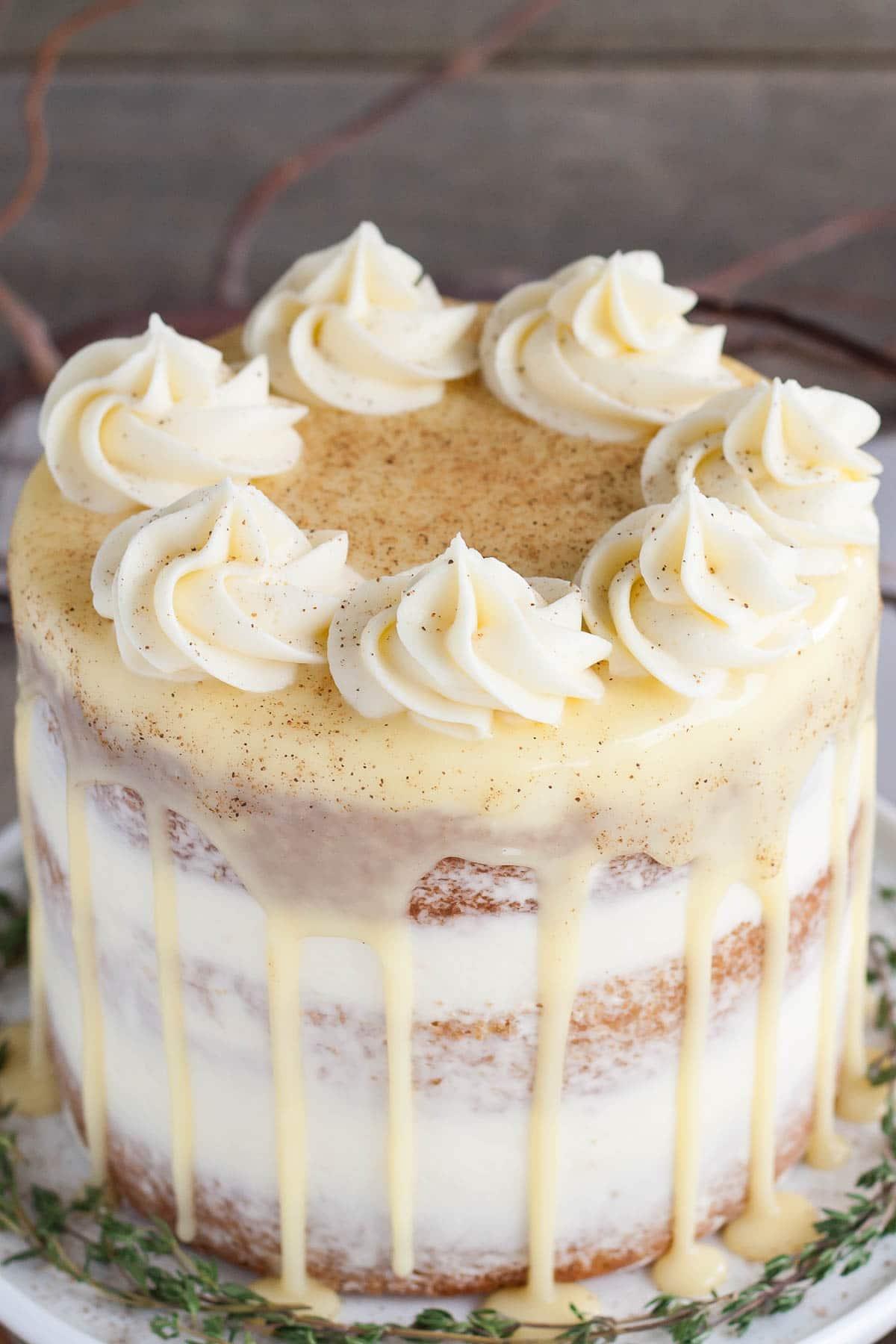 Spiked Eggnog Cake - Liv for Cake