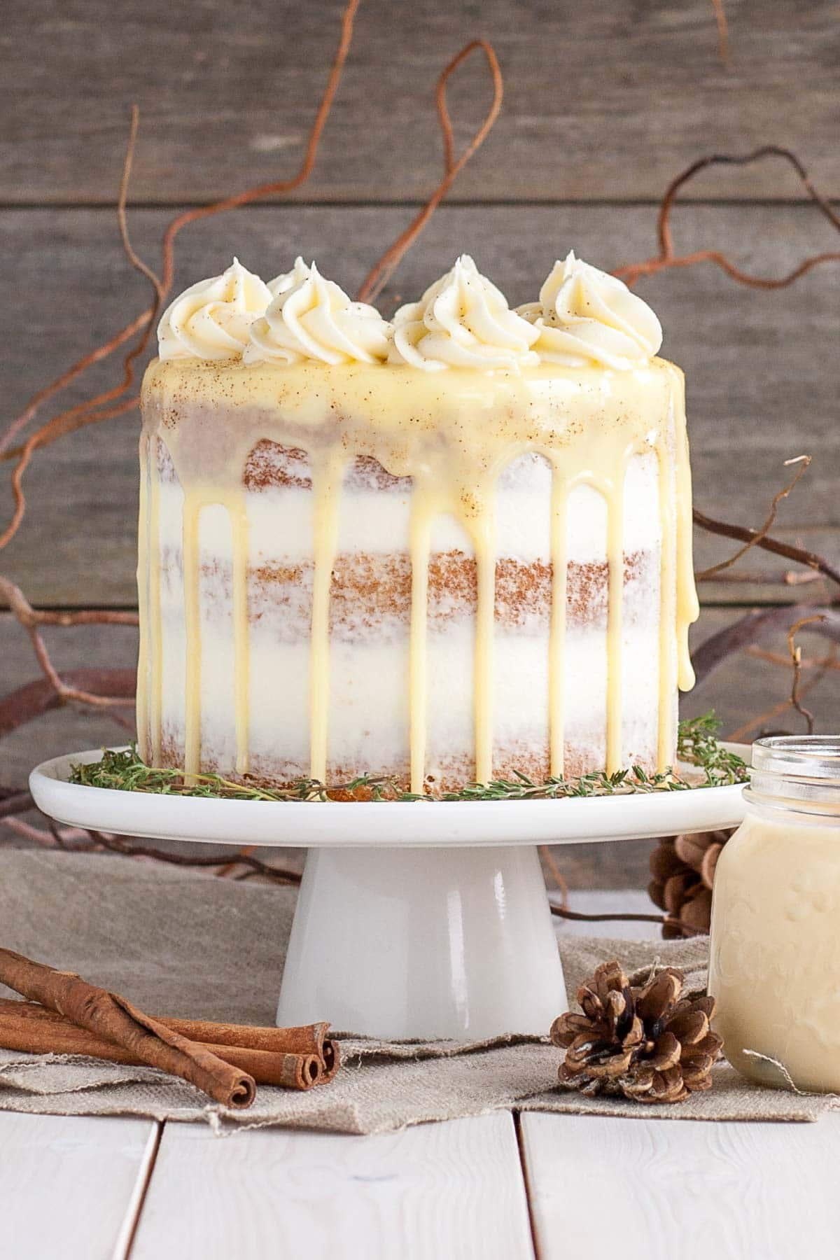 This eggnog cake is the perfect cake for the holiday season!