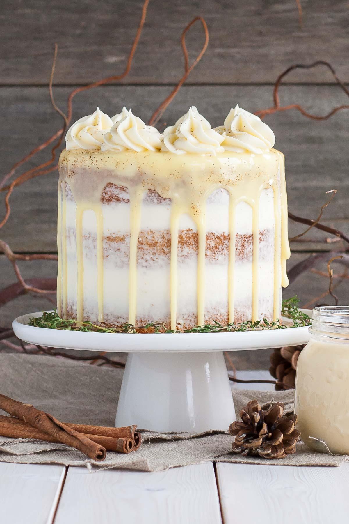Cake eggnog recipe