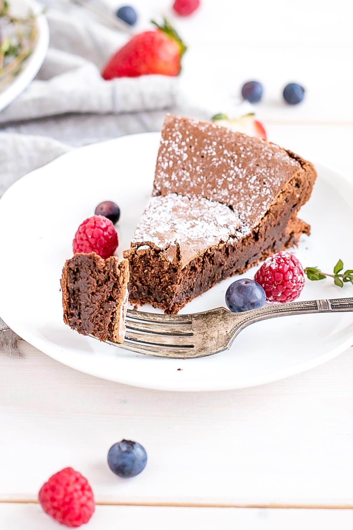 A slice of cake on a plate