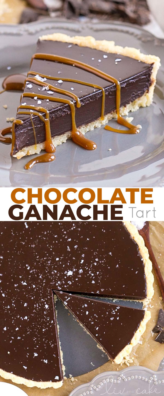 Chocolate tart photo collage.