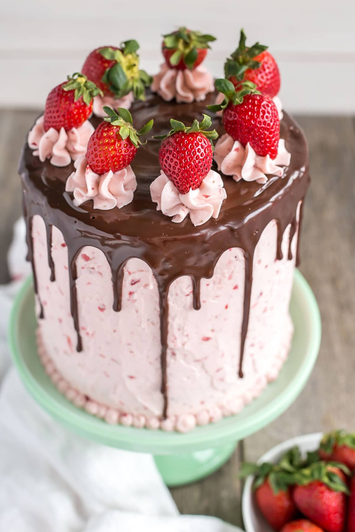 Red Velvet Cake With Strawberry Frosting