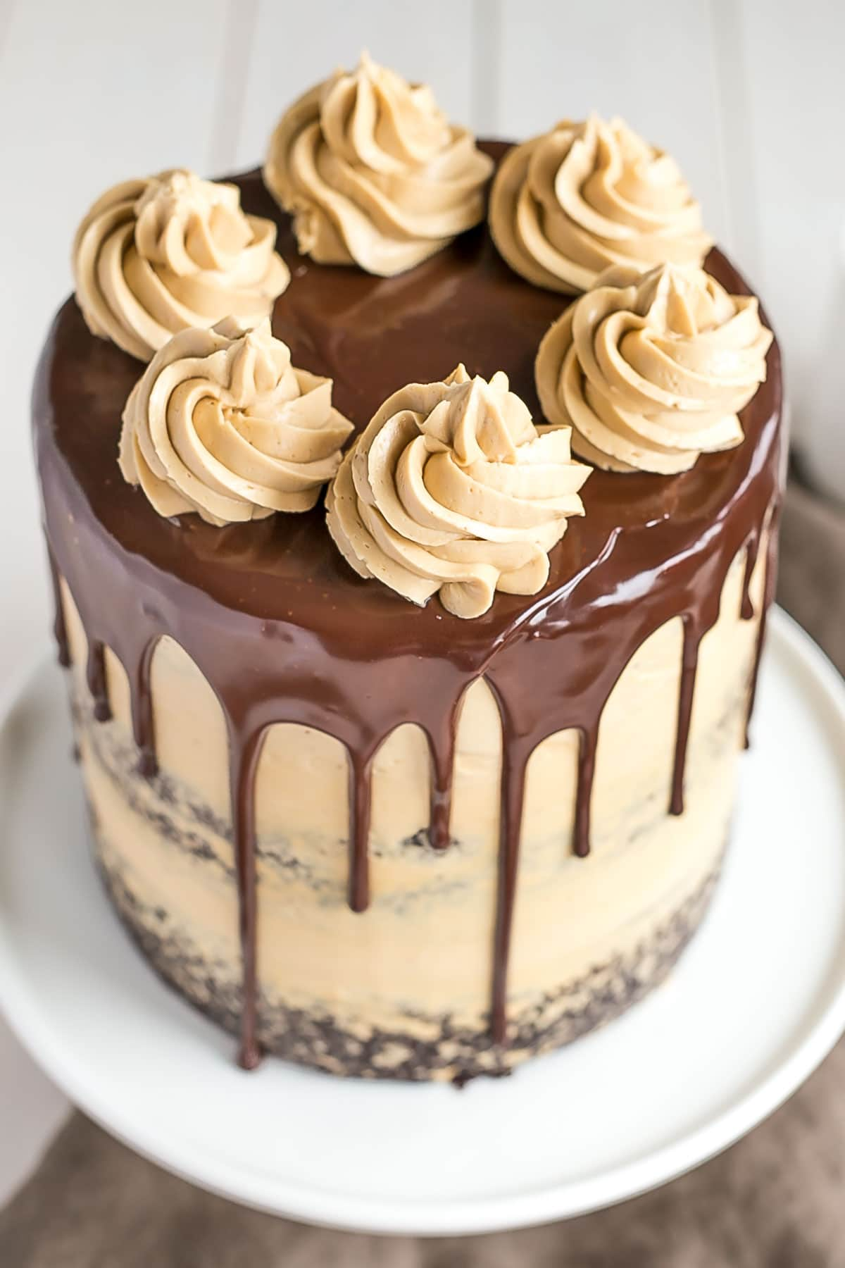 Chocolate & Dulce De Leche Birthday Cake Recipe — Dishmaps