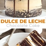 Chocolate Dulce de Leche Cake - The ultimate combo of chocolate and caramel come together in this delicious Chocolate Dulce de Leche Cake. | livforcake.com