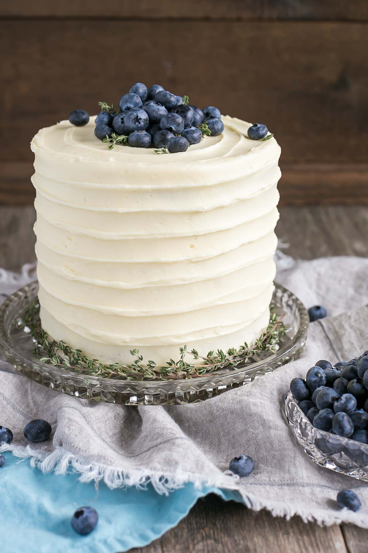 Blueberry Banana Cake With Cream Cheese Frosting Liv For